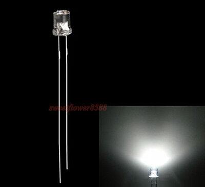 100pcs 5mm Flat top Pink LED Wide Angle Flat Head Light lamp New Free Shipping