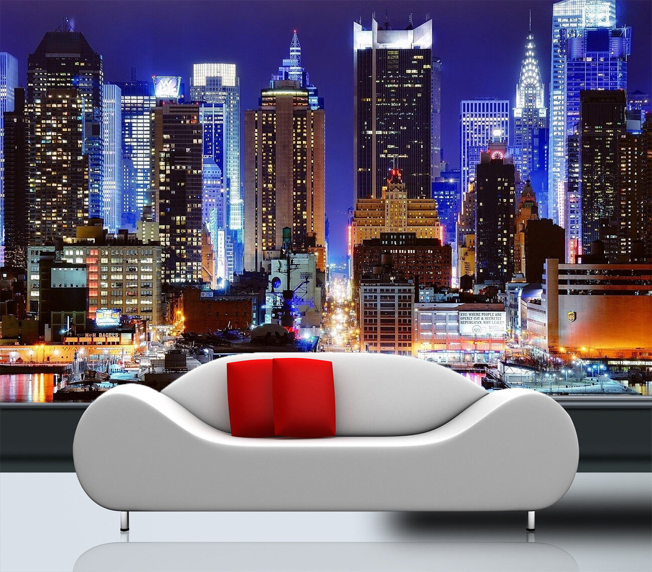 3D Night Sky City 773 Wallpaper Mural Paper Wall Print Wallpaper Murals UK