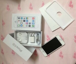 Brand-New-Apple-iPhone-5S-16GB-Silver-amp-White-GSM-Factory-Unlocked-Clean-IMEI