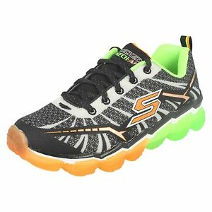 076e0c9e6826 Boys Skechers 95108 Skech-Air - Turbo Shock Lace Up Trainers