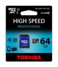 Carte mémoire Micro SD 64GB pour Samsung Nokia Blackberry HTC Sony Huawei Wiko