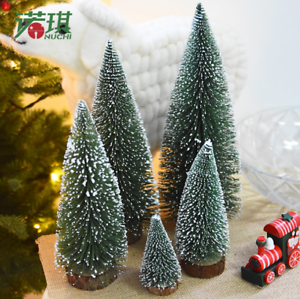 check out 258d7 9dac9 Details about Hot Tabletop Christmas Pine Tree White Mini White Pine Tree  Small decorations