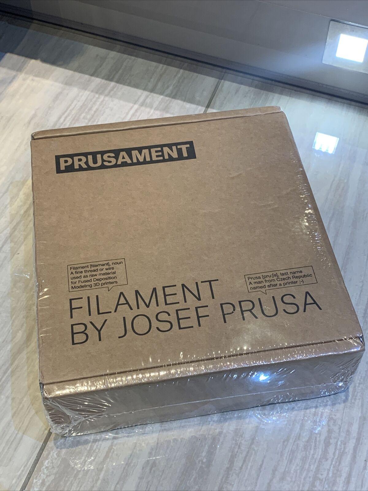 Prusa Prusament 3D Wire PLA Prussia Galaxy Black Glitter 1.75mm Filament **NEW**