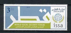 Qatar 2013 MNH World Social Security Forum ISSA 1v Set Stamps