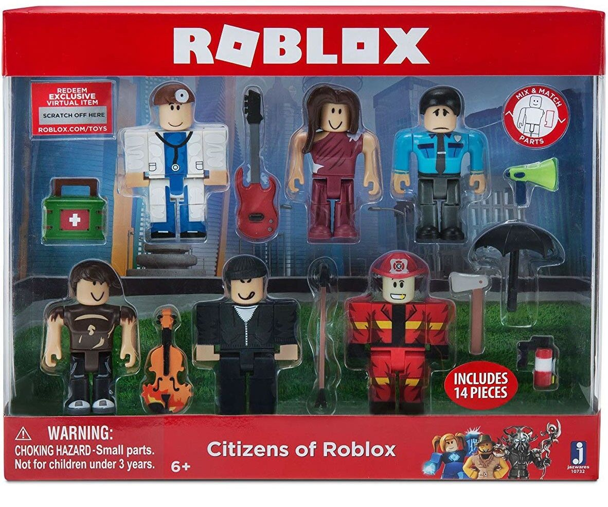 Cual Es El Lema De Roblox Citizens Of Roblox Action Figure 6 Pack Tiendamia Com