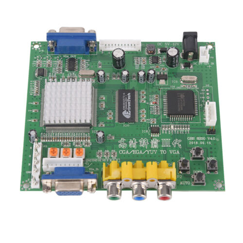 Arcade Game RGB//CGA//EGA//YUV to VGA HD Video Converter Board HD9800//GBS8200 cw