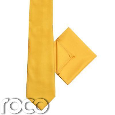 Soleggiato Giallo Di Ragazzi Cravatta & Fazzoletto Set, & Da Taschino Paggetto Accessori Materiali Di Alta Qualità Al 100%