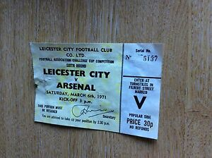 T12 ephemera 1971 match ticket leicester v arsenal football glue marks on rever - <span itemprop='availableAtOrFrom'>Leicester, United Kingdom</span> - Returns accepted Most purchases from business sellers are protected by the Consumer Contract Regulations 2013 which give you the right to cancel the purchase within 14 days after the da - Leicester, United Kingdom