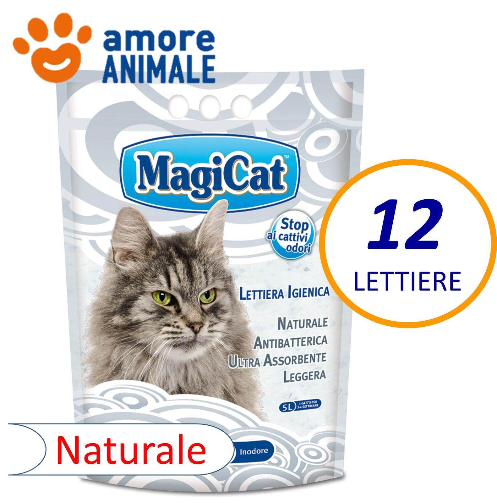 12 LETTIERE MagiCat - Lt. 5 NATURALE in Cristalli Silice Silicio INODORE x gatti