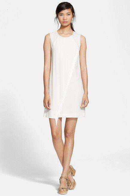 Rebecca Taylor Fringe Crepe Shift Dress Größe 2