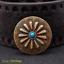 """10X Motard festonnée 3D Fleur Turquoise Leathercraft Concho 1-1//8/"""" Vis Arrière"""