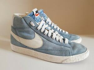 Nike-BLAZER-MID-VINTAGE-SUEDE-azzurro-pallido-Trainer-Taglia-7-ref4P2-Donna-Unisex-2012