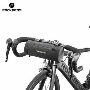 RockBros-Bicycle-Handlebar-Bag-Waterproof-Cylinder-Bike-Frame-Bag-Black-Gold-2L