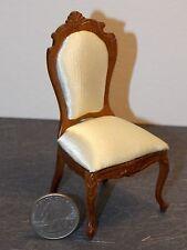Dollhouse Miniature Bespaq Elegant Dining Chair Walnut 1:12 inch scale  K24