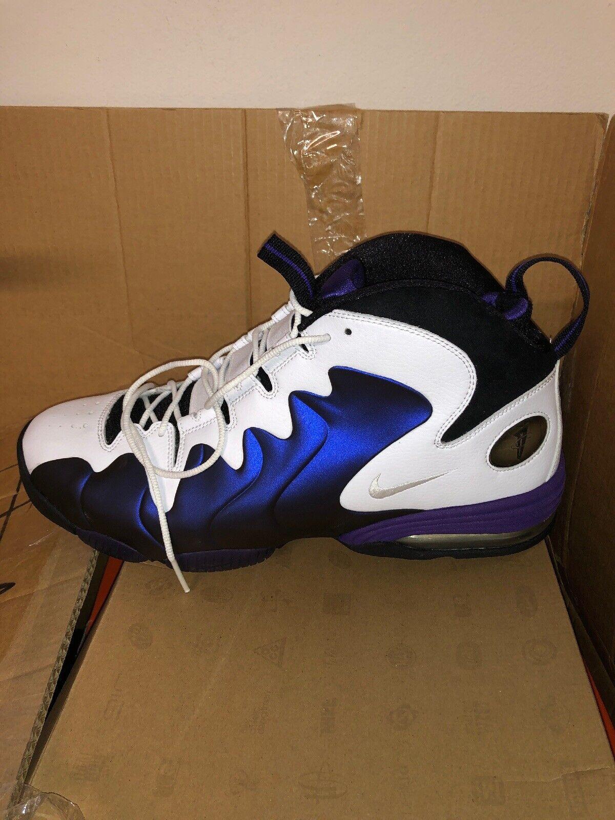 858661056206 Nike Air Pennt III 3 White Eggplant Foam Hardaway Hardaway Hardaway Size 14  b18766