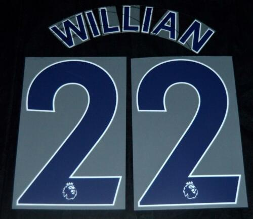 Chelsea Willian 22 Premier League Football Name//number Set Sporting ID 18//19