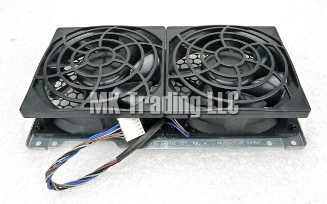 HP Z800 Workstation Dual Rear Case Fans Assembly 468760-001