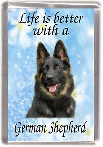German-Shepherd-Dog-Fridge-Magnet-034-Life-is-better-with-a-034-by-Starprint