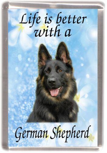 "German Shepherd Dog Fridge Magnet /""Life is better with a ../"" by Starprint"