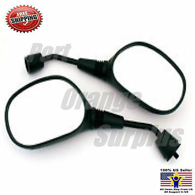 8mm Plastic Rearview Mirrors Pair 50cc 70 90 110 125 150 200 250cc Scooter Moped