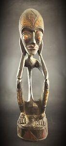 E-T-Statue-Africaine-en-bois-sculptee-ancienne-vers-1960-1970