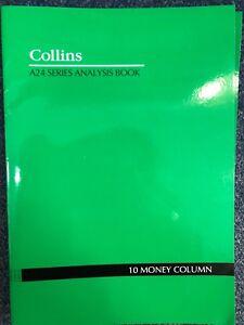 Collins A24 A4 Series Analysis Book 10 Money Column