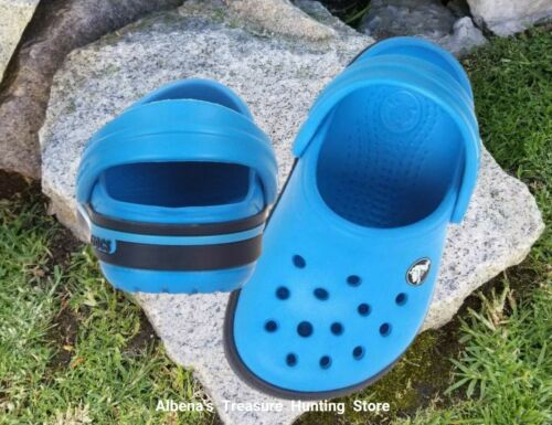 NWT CROCS Kids Crocband II.5 Clogs Ocean//Navy Boys Shoes SELECT SIZE