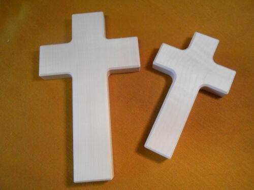 Kinderkreuz Holzkreuz hell 2 Stück zum Selbstbemalen Malen Holz Basteln