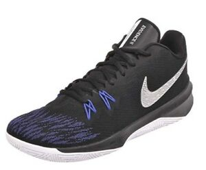 28a5d6ae880c NIB MENS NIKE AIR ZOOM EVIDENCE II 2 BLACK BLUE ATHLETIC BASKETBALL ...