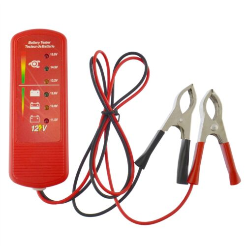 12 V Car Battery And Alternator Charge Tester With 6 LED Display