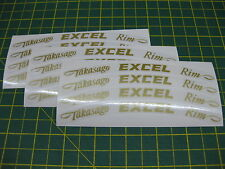 12 Takasago Excel Wheel Rim Stickers Colour Choices All Models