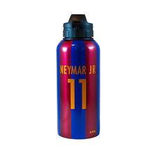 FC BARCELONA NEYMAR JR 11 STRIPE ALUMINIUM WATER BOTTLE SCHOOL GYM NEW GIFT