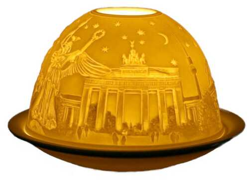 Windlicht Porzellan DL 0044 BERLIN Dome Light 12 x 12 x 8 cm weiss