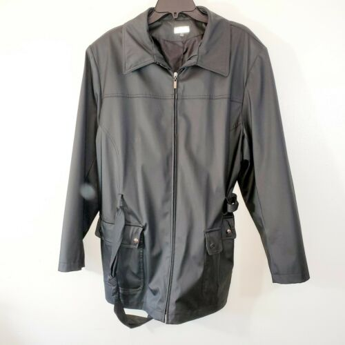 Giacca Gallery Co. Womans 1x Trench Coat Black Bel