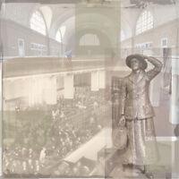 5pc Scrapbook Paper 12 Family History Reunion Ellis Island Statue Liberty Nyc