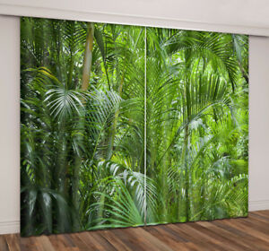 3D-Blockout-Fabric-Window-Curtain-Tropical-Jungle-Palm-Tree-2-Panels-Set-Drapes