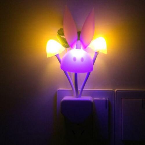 Pilz Kaninchen Form LED Nachtlicht Kinder Geschenk Stecker Licht EU Stecker
