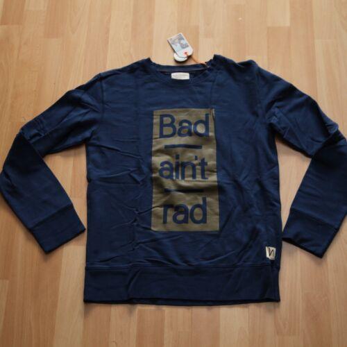 Sweater Felpa NUOVO Nudie Jeans Evert Bad Aint RUOTA odi Blue M