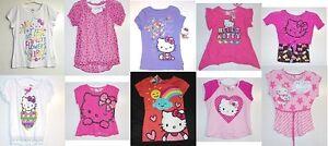 Hello-Kitty-girls-tops-T-Shirt-Various-Styles-amp-Sizes-4-5-6-6X-7-8-10-12-14-16