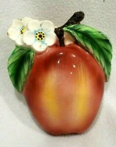Vintage-Apple-with-White-Blossoms-Wall-Pocket-6-034-x-5-034-x-2-034