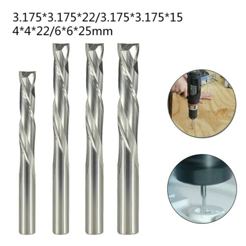 Two Flute Compression Up//Down Cut Spiral Router Bit CNC Carbide End Mill Cutter