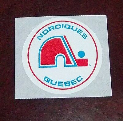decals / stickers quebec nordiques logo  1970's -80's hockey   # 5