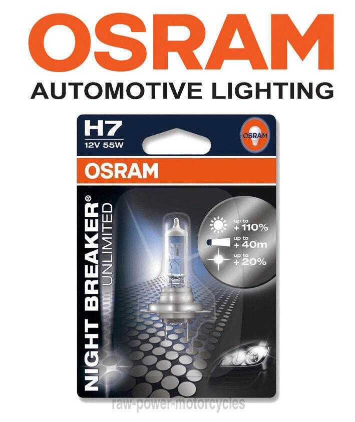 1x OSRAM H7 NIGHT RACER 110 Yamaha MT-01 1700 Nakedbike H7 HIGH BEAM UPGRADE