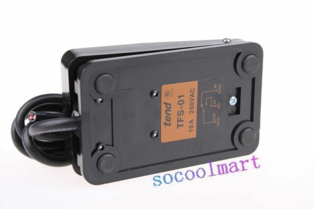 1Pcs Black Single Action On Off Floor Stomp Foot Switch AC 250V 10A US Stock