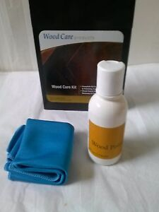 Wood Master Wood Product Care Kit Clean Polish Beeswax