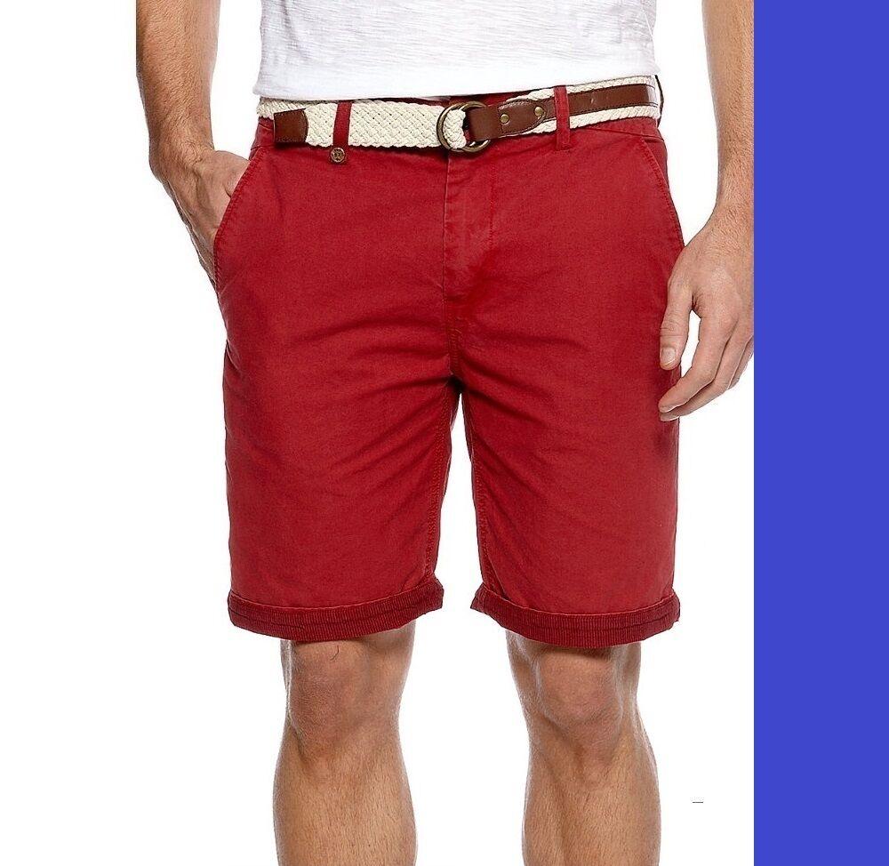 Buffalo David Bitton  Lona Shorts Rojo bm14150 MSRP  79.00  entrega rápida
