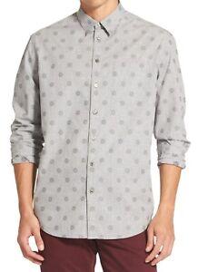 DKNY-Mens-Shirt-Castlerock-Gray-Size-XL-Button-Down-Classic-Medallion-79-405