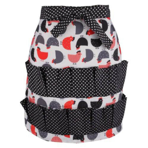 Egg Collecting Apron Pockets Hold Chicken Farmhouse Home Kitchen Waterproof RE
