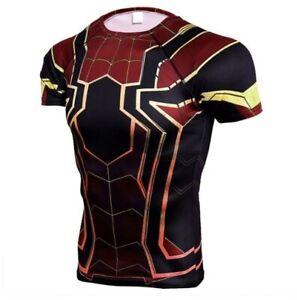Fitness-Compression-Short-Sleeve-T-Shirt-Men-Avengers-Thor-Bodybuilding-3D-Print