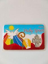 Confirmation Card Metal Holy Spirit Cross Medal
